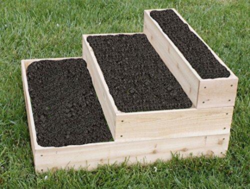 Cedar Raised 3 Tier Planter Bed Garden