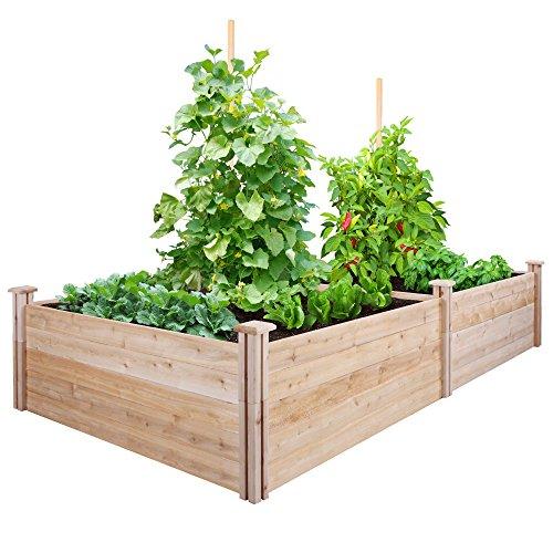 Greenes Fence Cedar Raised Garden Kit 4 Ft X 8 Ft X 175 In