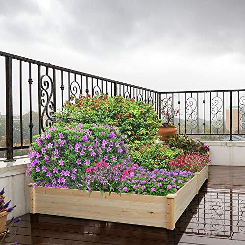 Antik shop Corner Raised Elevated Garden Planter Bed Box Kit Vegetable Flower Outdoor Garden Herb Planters Boxes Garden Planters Boxes