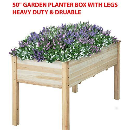 HighHoop 50 Garden Bed Planter Box KIT Cedar Elevated Garden Planter Box with Legs for VegetablesFlowerHERBFruits Planter Box - Indoor OR Outdoor USE