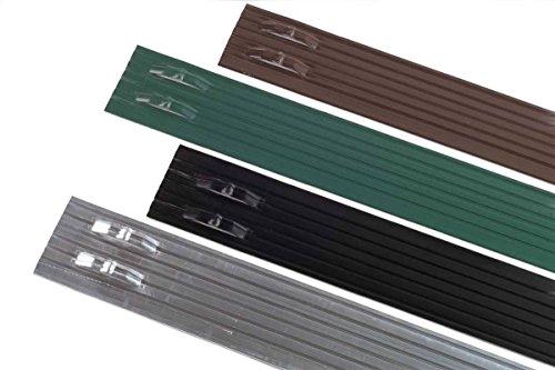PRO Aluminum Landscape Edging - 18 X 4 X 8 40box - Black Anodized