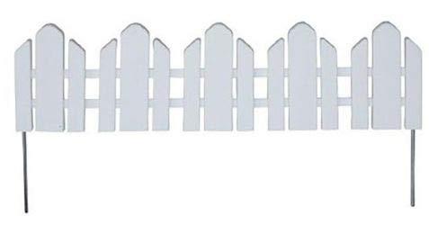 Flexible Garden Fence Lawn Border - Adirondack-Style Landscape Edging - White 22-14 L if Assembled