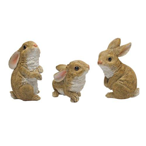 Design Toscano The Bunny Den Garden Rabbit Statues Multicolored