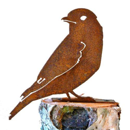 Elegant Garden Design Bluebird Steel Silhouette with Rusty Patina