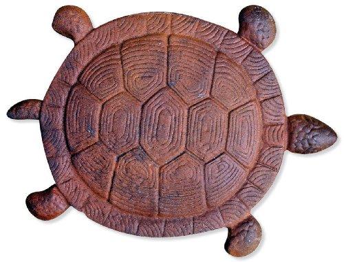 Sunset Vista Designs Cast Iron Turtle Garden Stepping Stone 13-inch Long