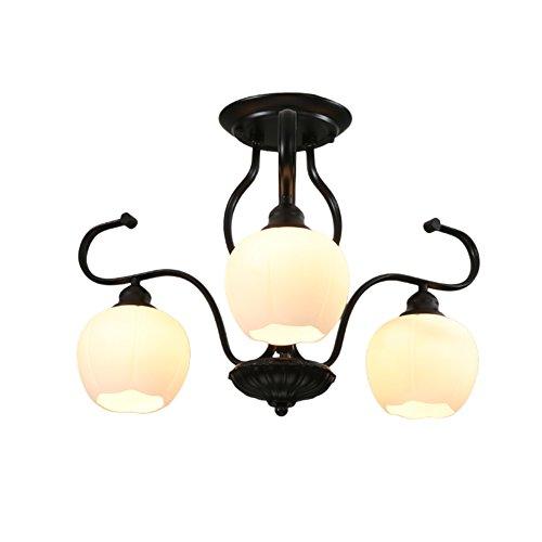 American Minimalist Iron Living Room Ceiling lampRetro Garden Ideas-Bedroom lampWarm Study lamp-A