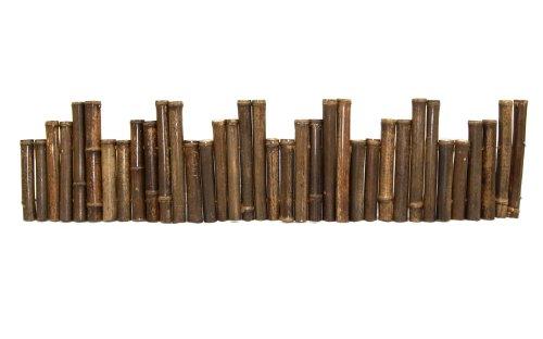 Black Bamboo Border Edging 1 X 8