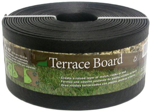 Master Mark Plastics 95440 Terrace Board Landscape Edging Coil  5 Inch By 40 Foot Black