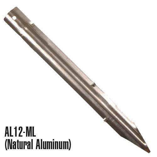 Permaloc Edging Steel Stake 12 x 1 Inch - Natural Aluminum