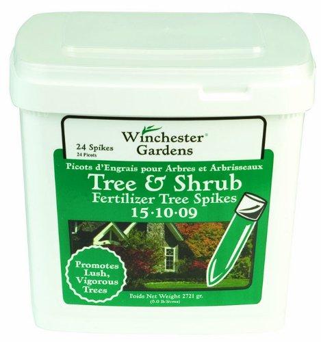 Winchester Gardens Tree And Shrub Fertilizer Spikes 15-10-9 24 Spikesbucket