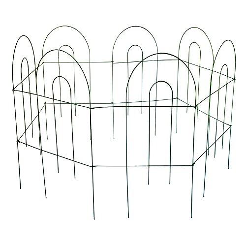 Amagabeli Garden Patio Furnishing Folding Iron Fence Panels For Flowers Plants Parks Fields Concise Design
