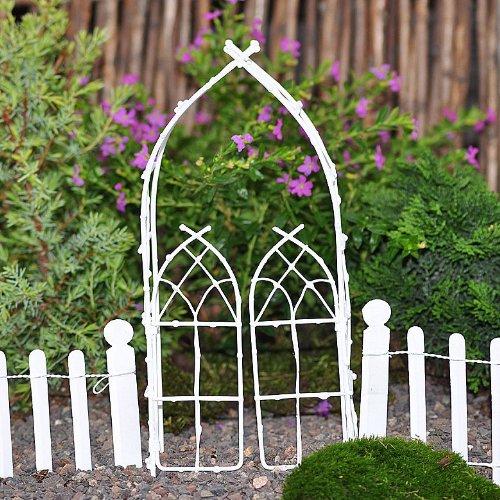 Miniature Fairy Garden Willow Arbor White