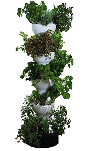 Foody 8 Hydroponic Tower - Indooroutdoor Vertical Garden Planter - 40 Plants In 2 Sq Ft