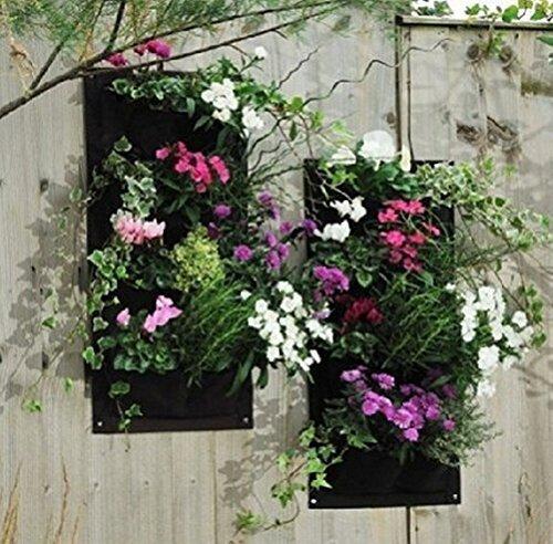 Kisstaker Gardens 4 Pocket Vertical Wall Garden Planter Wall-mounted Plant