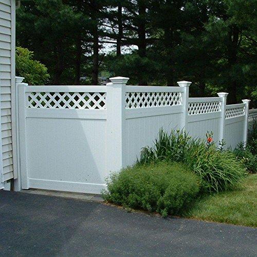 Ashton 6 ft H x 8 ft W White Vinyl Privacy Fence Panel