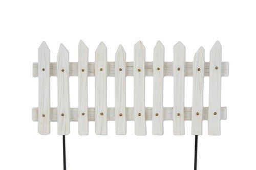 Miniature Fairy Garden White Picket Fence Panel
