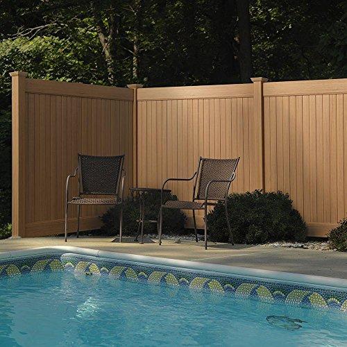6 ft H x 8 ft W Cedar Grove Chestnut Brown Vinyl Privacy Fence Panel