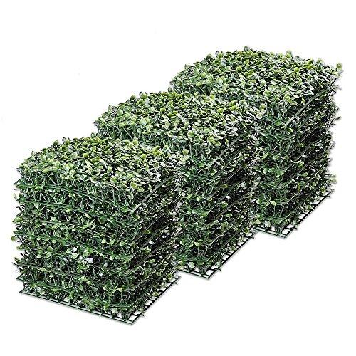 Eosphorus MLBS 24pcs Artificial Boxwood Privacy Fence Panel Grass