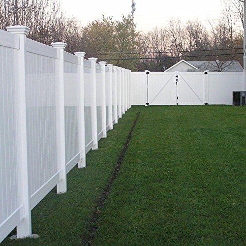 Savannah 4 ft H x 8 ft W White Vinyl Privacy Fence Panel