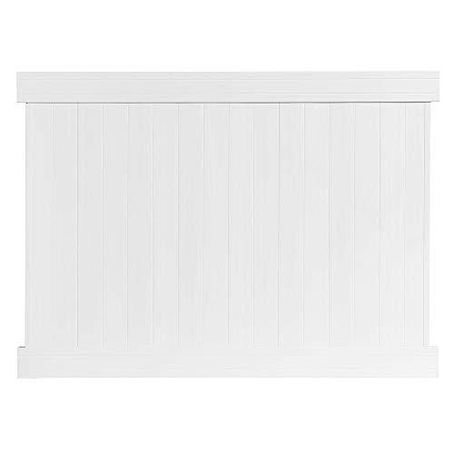 Veranda Fairfax White Vinyl Privacy Fence Panel6 ft H x 8 ft