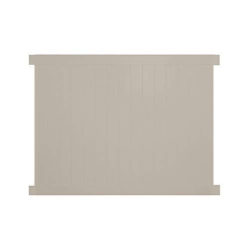 Weatherables Savannah 6 ft H x 8 ft W Khaki Vinyl Privacy Fence Panel Kit