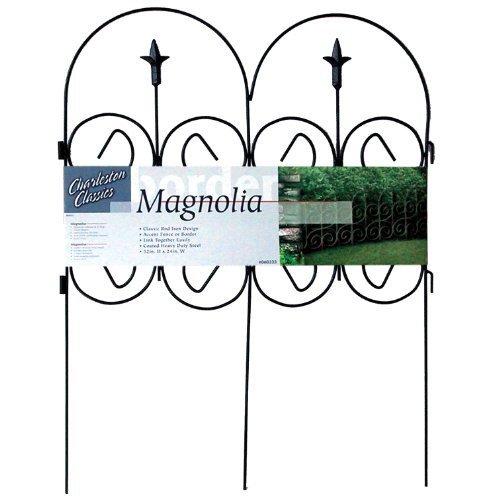 Origin Point 060323 Magnolia Classic Decorative Steel Landscape Border Fence Section by Origin Point