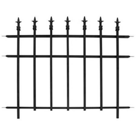 Panacea 87103 Classic Garden Fence Section Black