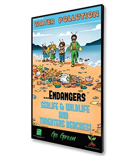 Teen Environmental PosterWater Pollution in 11x17 Matte Black Format Frame Teen Poster Version