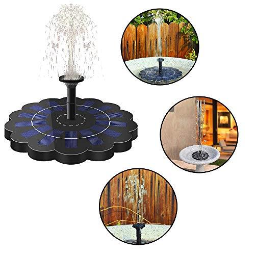 Qianlai Garden Fountain 320Lh Floating Solar Fountain Anti-Blocking Brushless Water Pump Bird Bath Garden Pond Plants Watering Kit Pump