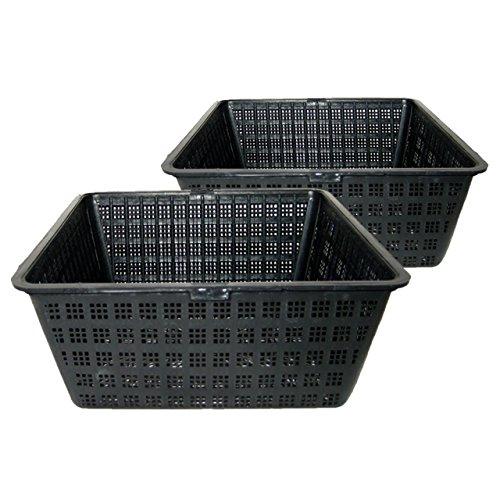 Algreen 91262 Pond Plant Square Basket 2 Pack 8 x 35