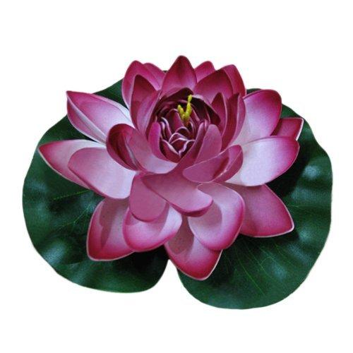 Ewandastore 1pcs Wine Red Floating Foam Lotus Water Lilies Artificial Pond Plants Flower