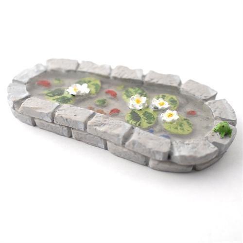 Miniature 112th Scale Fairy Garden Pond Plant Pot Ornament Fairy Garden Accessory