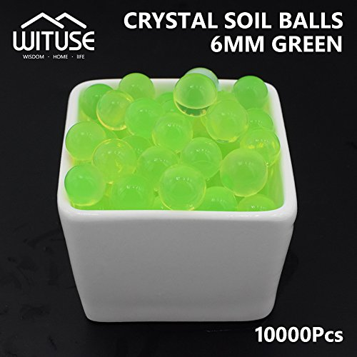 SOILLESS Plant Crystal Soil Grow Water Beads Green Magic Jelly Ball X10000