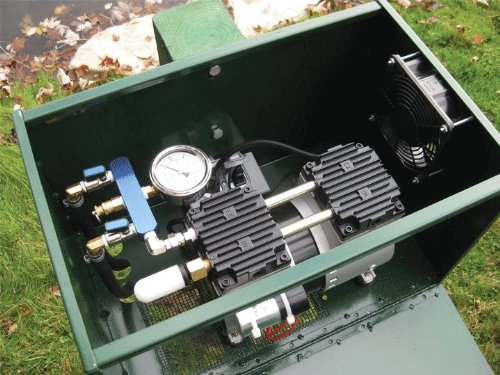 12 HP Sentinel Rocking Piston Deluxe Pond Aeration System PA66DP Tubing and Diffusers