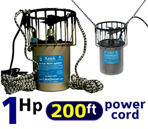 1 Hp Kasco Marine De-icer with 200 Long Power Cord 110v Lake Pond Deicer Bubbler Water Agitator  Circulator