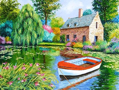 Posterazzi The House Pond Poster Print by Jean-Marc Janiaczyk 18 x 12