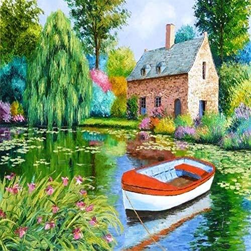 Posterazzi The House Pond Poster Print by Jean-Marc Janiaczyk 36 x 24