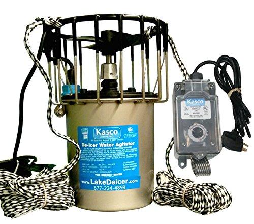 Kasco Marine Lake Pond De-icer 1hp - 120v Deicer 25ft Power Cord Ropes C-10 Timer Thermostat Controller