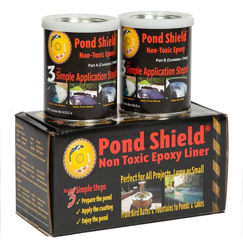 Pond Armor SKU-TAN-QT-R Non-Toxic Pond Shield Epoxy Paint 15-Quart Tan