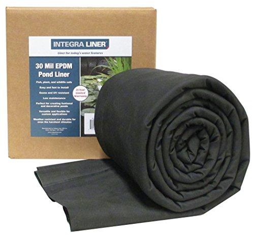 EasyPro Integra 30 Mil EPMD Rubber Pond Liner 15 x 20