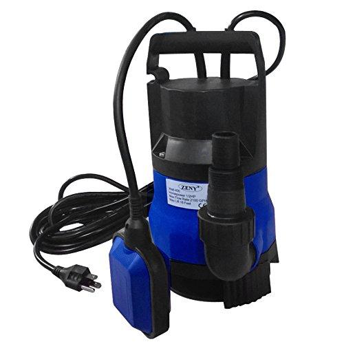 ZENY Submersible Pump 12HP 2000GPH 400W CleanDirty Water Pump Flood Drain Garden Pond Swimming Pool Pump
