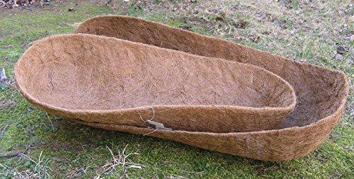 Garden Artisans 44 Molded Trough Coco Liner - 44 L x 16 W x 10 D