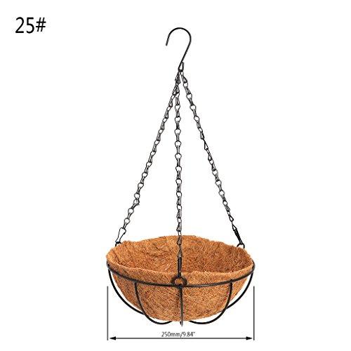 Riskt Hanging Coconut Vegetable Flower Pot Basket Liners Planter Garden Decor Iron Art 2