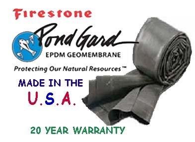 10 x 20 Firestone 45 Mil EPDM Pond Liner