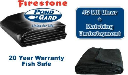 15 X 25 Firestone 45mil Epdm Pond Lineramp Matching Underlayment Kit
