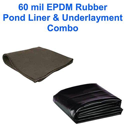 15' X 50' Patriot 60 Mil Epdm Pond Liner & Underlayment Combo
