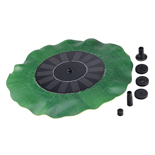 KLAREN Lotus Leaf Solar Power Fountain Submersible Water Pump Kit Garden Pool Pond Water Pump 14W