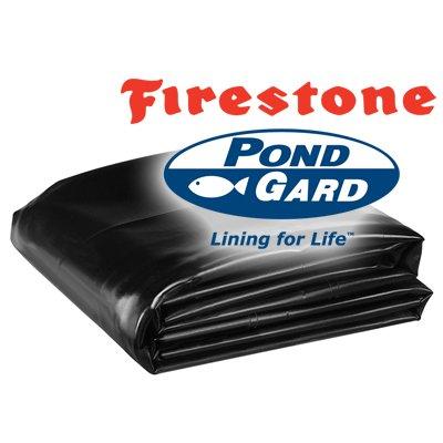 25 x 80 Firestone PondGard 45 Mil EPDM Pond Liner Fish Safe