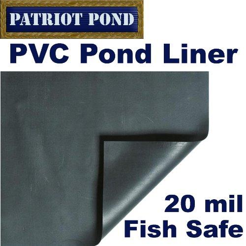 10 X 10 Patriot 20 Mil Pvc Pond Liner