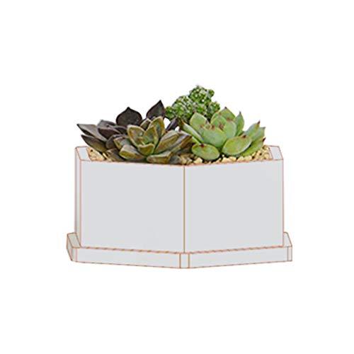 Kimnny Silicone Mold Hexagon Flower Pot DIY Silicone Molds Garden Planter Cement Concrete Vase Soap Moulds